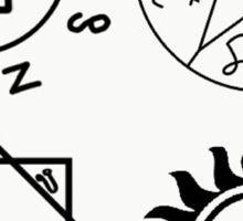 Supernatural sigils Sticker