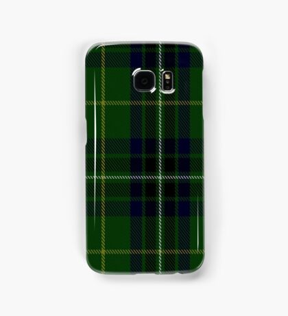 00417 Cornish Brewery, Green Tartan  Samsung Galaxy Case/Skin