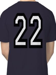 22, TEAM, SPORTS, NUMBER 22, TWENTY, TWO, Twenty Second, Competition,  Classic T-Shirt