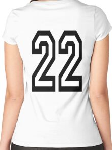 22, TEAM, SPORTS, NUMBER 22, TWENTY, TWO, Twenty Second, Competition,  Women's Fitted Scoop T-Shirt