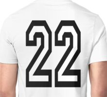 22, TEAM SPORTS, NUMBER 22, TWENTY, TWO, Twenty Second, Competition,  Unisex T-Shirt