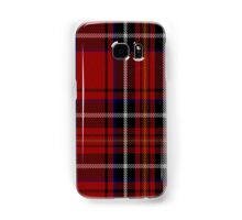 00418 Cornish Brewery Red Tartan  Samsung Galaxy Case/Skin