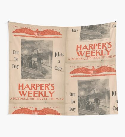Artist Posters Harper's Weekly a pictorial history of the war 0992 Wall Tapestry