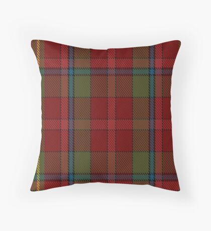 00420 Golden Broom #2 Tartan  Throw Pillow