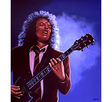 Angus Young of AC / DC painting Photographic Print