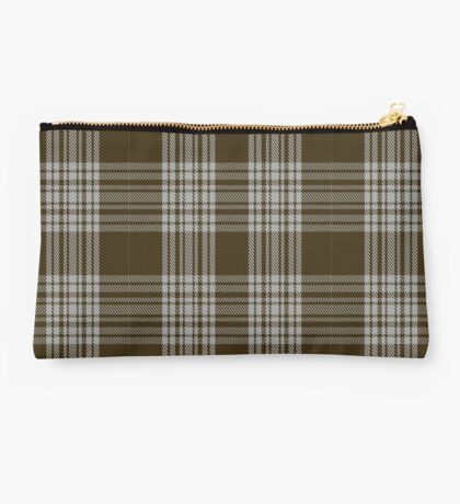 00422 Menzies Brown & White Tartan  Studio Pouch