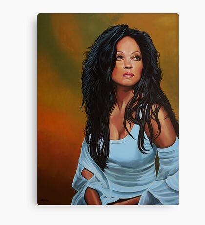 Diana Ross painting Canvas Print