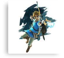 Link from Zelda Wii U: Breath of the Wild Canvas Print