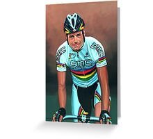 Cadel Evans painting Greeting Card