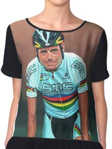 Cadel Evans painting Chiffon Top