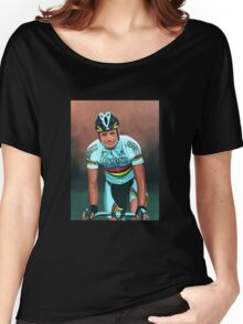 Cadel Evans painting Women's Relaxed Fit T-Shirt