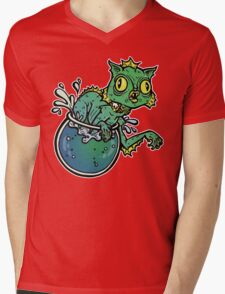 Creature From The Cat Lagoon Mens V-Neck T-Shirt