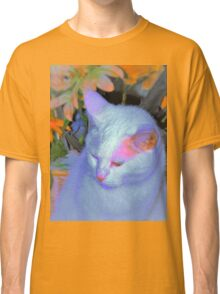 Kitty in front of basket Classic T-Shirt