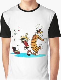 Calvin and Hobbes Music  Graphic T-Shirt