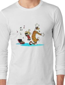 Calvin and Hobbes Music  Long Sleeve T-Shirt