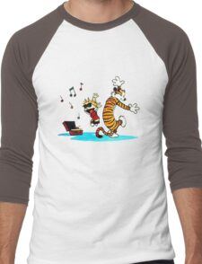 Calvin and Hobbes Music  Men's Baseball ¾ T-Shirt