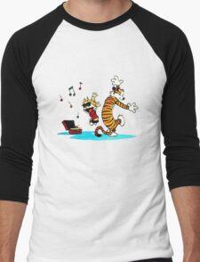 Calvin and Hobbes Music  Men's Baseball ¾ T-Shirt