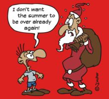 Cartoon: Santa Claus, Saint Nicholas, Father Christmas (1C) Kids Tee