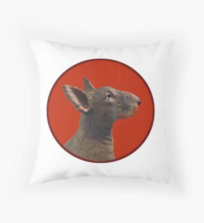 English Bull Terrier Dog Throw Pillow