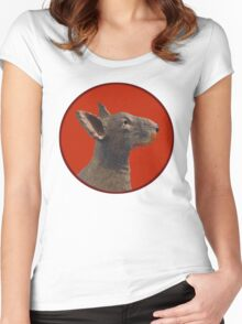 English Bull Terrier Dog Women's Fitted Scoop T-Shirt