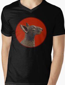 English Bull Terrier Dog Mens V-Neck T-Shirt