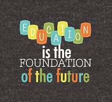 Educational Text Quotes Foundation of the Future Pullover