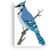 Pixel Blue Jay Canvas Print