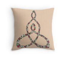 Celtic Motherhood Floral Knot Throw Pillow