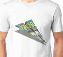 CRACKED Paper Airplane 109 Unisex T-Shirt
