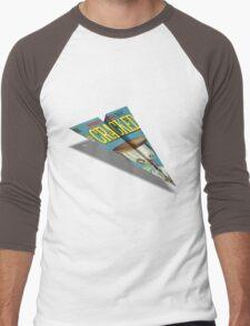 CRACKED Paper Airplane 109 Pattern Men's Baseball ¾ T-Shirt