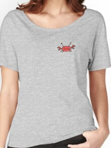 Crab left pocket zip hoodie Women's Relaxed Fit T-Shirt