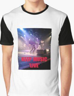Music Keep Music 'Live' Graphic T-Shirt