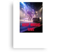 Music Keep Music 'Live' Canvas Print