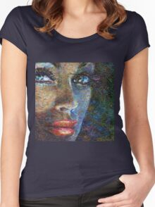 Brilliang Eyes Pop Women's Fitted Scoop T-Shirt