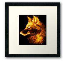Gold wolf Framed Print