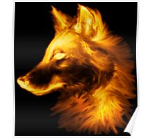 Gold wolf Poster
