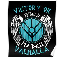 Lagertha Shieldmaiden Victory Or Valhalla Poster