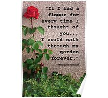 If I had a flower... Poster