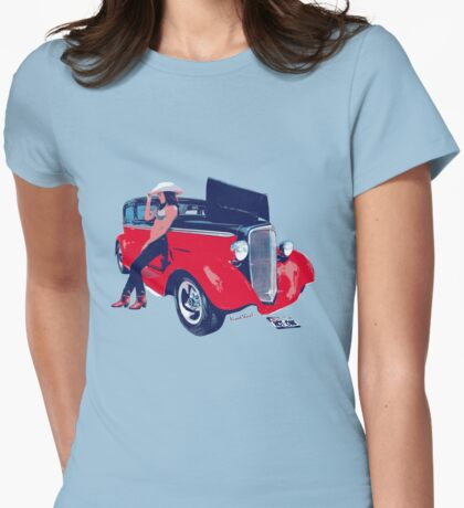 Hot Rod Hot One Womens Fitted T-Shirt