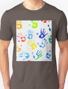 Rainbow Colors Arm Prints Abstract Unisex T-Shirt