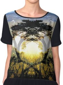 Sunset through the Trees Chiffon Top
