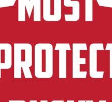I Must Protect Bucky Sticker