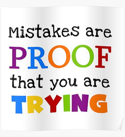 Text Sayings Quote Mistakes  Poster