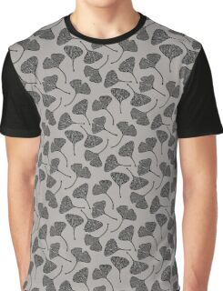 Ginkgo Vector Black on Warm Grey Graphic T-Shirt