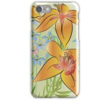 Tiger lilies and love in the mist iPhone Case/Skin