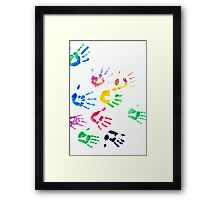 Rainbow Color Arms Prints Framed Print