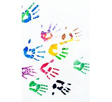 Rainbow Color Arms Prints Photographic Print