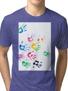 Rainbow Color Arms Prints Tri-blend T-Shirt