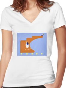 Building Block Women's Fitted V-Neck T-Shirt