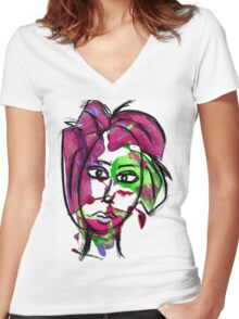 Colorful by WhimsicalColorfulYou Women's Fitted V-Neck T-Shirt